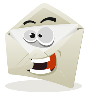 Funny Email Icon Character