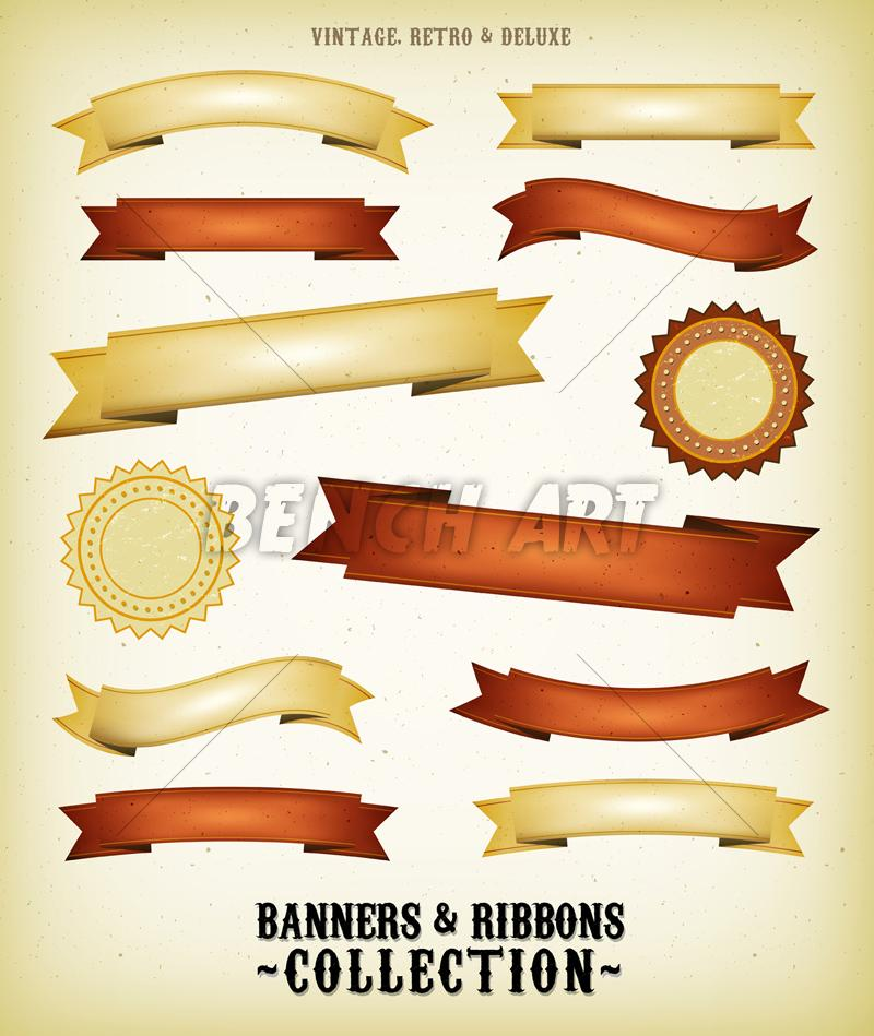 Grunge Ribbons And Banners