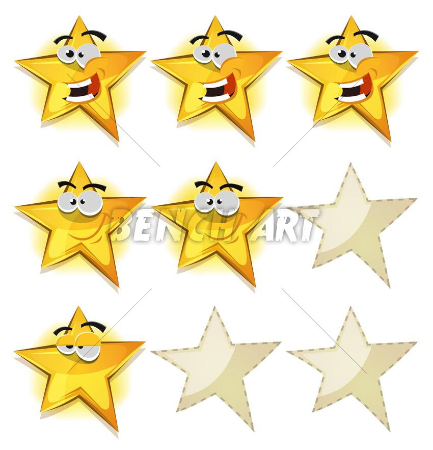 Funny Stars Icons Characters For GUI