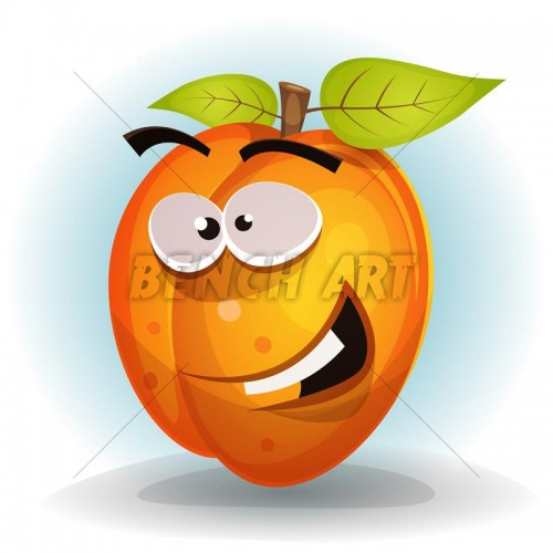 Funny Apricot Character