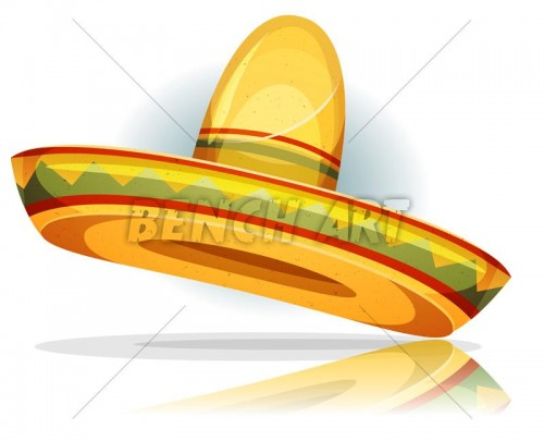 Cartoon Mexican Sombrero