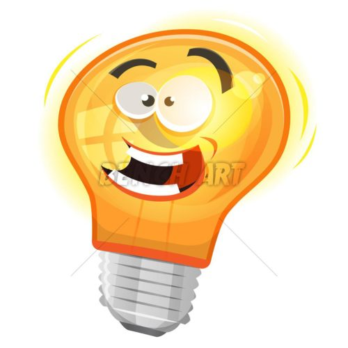 Cartoon Light Bulb Character