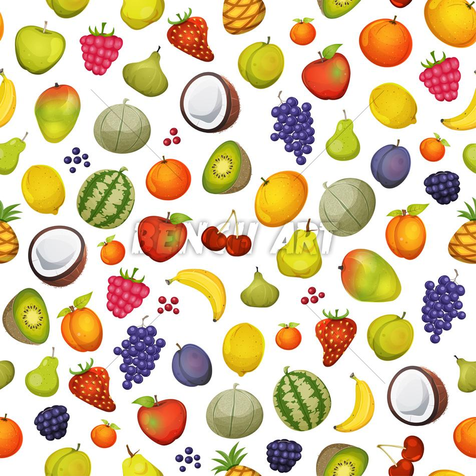Seamless Fruits Wallpaper